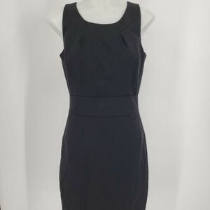 J Crew Black Suiting Tailored Shift Dress